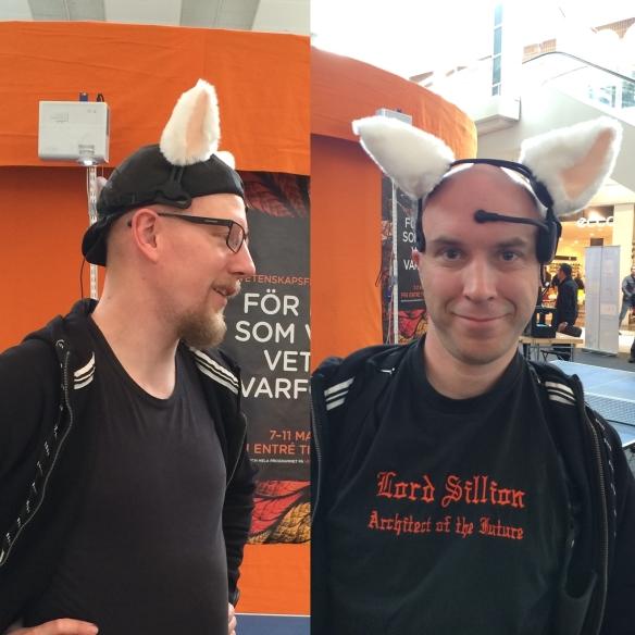Carl Heath och Lord Sillion på Vetenskapsfestivalen 2014